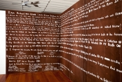 Richard Lewer Last Will and Testament 2010 The Drawing Wall Commission Shepparton Art Gallery Detail 3
