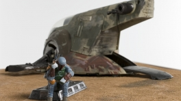 The Contemplation of Boba Fett Northern Dune Sea Tattooine (detail)