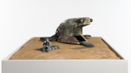 Alasdair Macintyre The Contemplation of Boba Fett Northern Dune Sea Tattooine 2012 polyurethane resin polymer clay wood sand resin cardboard acrylic paint 24 x 70 x 52cm