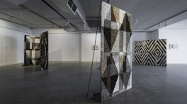 Installation view, Sanné Mestrom: Black Paintings, McClelland Sculpture Park+Gallery 5 Aug-11 Nov 2018
